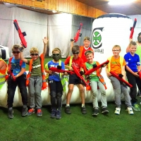 Kinder Gotch Paintball Geburtstagsparty